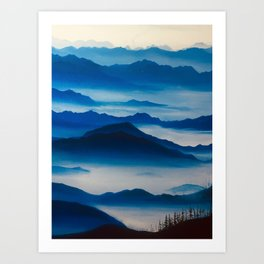 Ultramarine Mountains Art Print