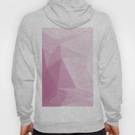 Low Poly Polygonal Geometric Design Pink 03 Hoody