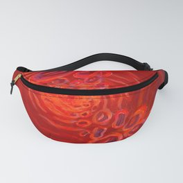 The blood with red cells erythrocytes Fanny Pack