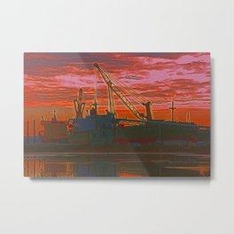 The Docks (Digital Art) Metal Print