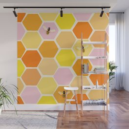 Busy As A Bee In A Hive Wall Mural