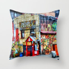 Mexican  Bar Throw Pillow
