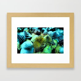 Tiny Marine Trees Framed Art Print