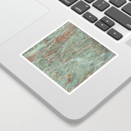Sage and Rust Marble Sticker