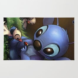 LILO E STITCH: CUTE STITCH PLAYING Rug