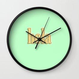 Hola Wall Clock