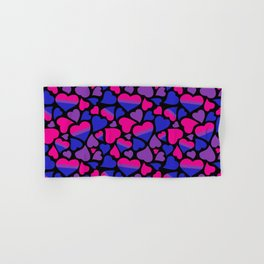 Bi Pride Hearts Hand & Bath Towel