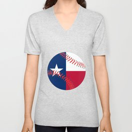 Texas Flag Baseball Unisex V-Neck