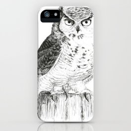 My great horned owl: Nuit iPhone Case