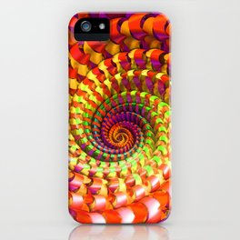Colorful spiral iPhone Case