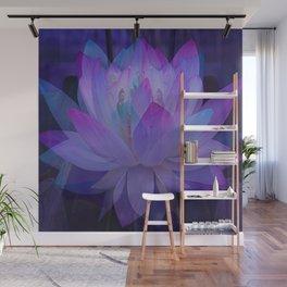 Lotus in Blue... Wall Mural