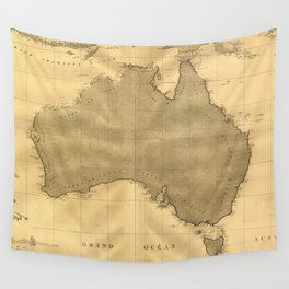 Vintage Map of Australia (1808) Wall Tapestry