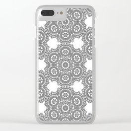 Silver Lace Clear iPhone Case