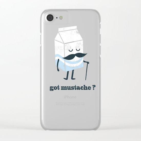 Got mustache? Clear iPhone Case