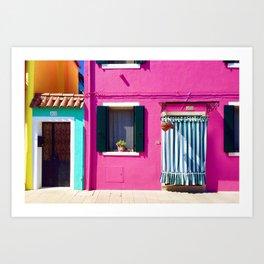 Colorful Homes Art Print