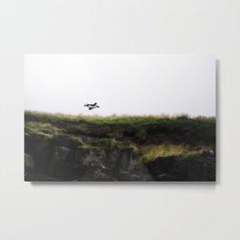 Puffin in Flight Metal Print
