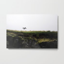 Puffin in Flight Metal Print
