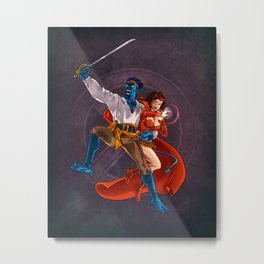 Nightcrawler & Scarlet Witch Metal Print