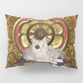 Steampunk, cute cat Pillow Sham