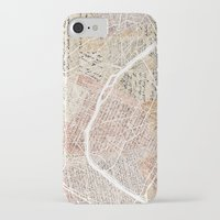 paris map iPhone & iPod Cases featuring Paris map by Mapsland