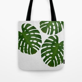 Monstera Leaf III Tote Bag