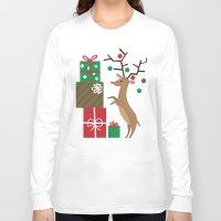 reindeer Long Sleeve T-shirts featuring Reindeer by Reg Silva / Wedgienet.net