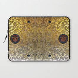 Golden Swirls Book Laptop Sleeve