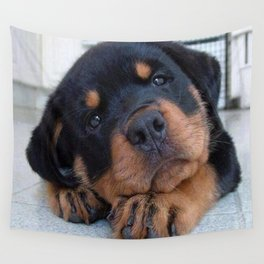 Riley  🐾  The Rottweiler Puppy  🐾 Wall Tapestry