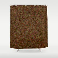 brown Shower Curtains featuring brown by ecceGRECO