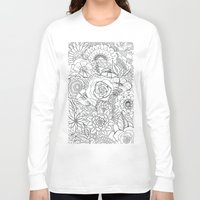 floral pattern Long Sleeve T-shirts featuring Floral Pattern by Coffee and Pen
