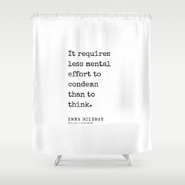 37   Emma Goldman Quotes   200607   The Great Feminist Shower Curtain