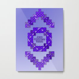 Indigo Lantern Symbol & Oath Metal Print