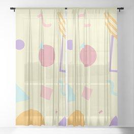 Light Yellow Memphis Sheer Curtain