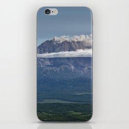 Summer mountain landscape, scenery erupting volcano on Kamchatka Peninsula iPhone Skin