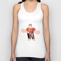 wreck it ralph Tank Tops featuring I'm Gonna Wreck It Typography by Rebecca McGoran