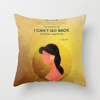 aladdin Throw Pillows featuring Aladdin Quote by Melissa Vibar