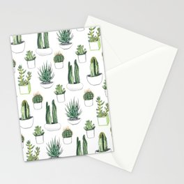 Watercolour Cacti & Succulents Stationery Cards
