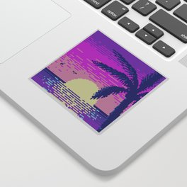 Pixel Sunset Sticker