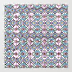 Funky Retro Pattern Canvas Print