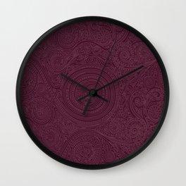 Pattern Spiral Marsala Wall Clock