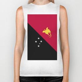 Papua New Guinea flag emblem Biker Tank
