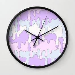 DRIPPY ((pink, purple, blue)) Wall Clock