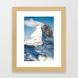Castle on the Hill Matterhorn and Burg Eltz Castle in Germany Framed Art Print