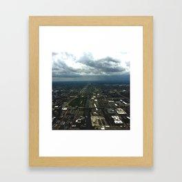 Sky View Chicago Framed Art Print