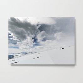 The White Open Metal Print