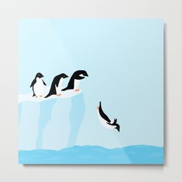 Adélie penguins Metal Print