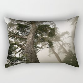 She follows me into the woods Rectangular Pillow