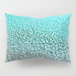 TEAL GLITTER Pillow Sham