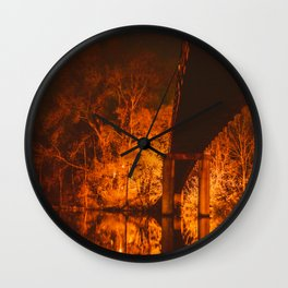 Night Sparks Wall Clock