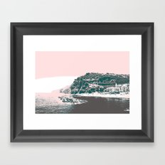 village by the sea. Framed Art Print